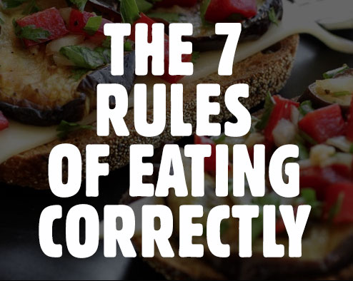 7 rules of eating correctly
